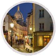 Montmartre Twilight Round Beach Towel