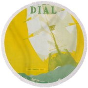 Morse Dry Dock Dial Round Beach Towel