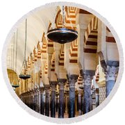 Mosque Cathedral Of Cordoba  Round Beach Towel