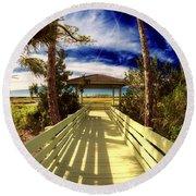 Nature Preserve Round Beach Towel