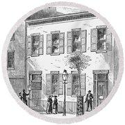 New York: Dispensary, 1868 Round Beach Towel