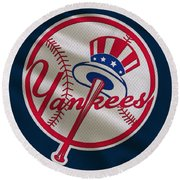 New York Yankees Uniform Round Beach Towel