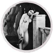 Nude Posing, C1850 Round Beach Towel