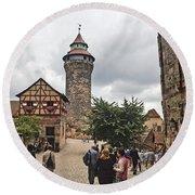 Nurnberg Germany Castle Round Beach Towel