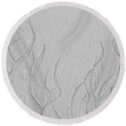 Ocean Sand Art Below Round Beach Towel