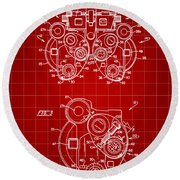 Optical Refractor Patent 1985 - Red Round Beach Towel