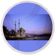 Ortakoy Mosque Round Beach Towel