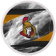 Ottawa Senators Round Beach Towel