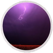 Our 1st Severe Thunderstorms In South Central Nebraska Round Beach Towel