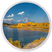 Oxbow Bend Grand Teton National Park Round Beach Towel