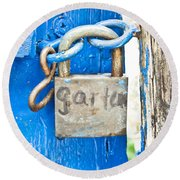 Padlock Round Beach Towel