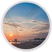 Panama City Florida Round Beach Towel