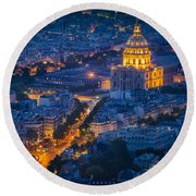 Paris Overhead Round Beach Towel