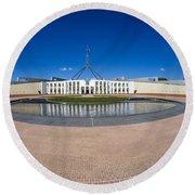 Parliament House Australia Round Beach Towel