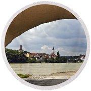 Passau Germany Round Beach Towel