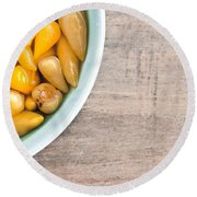 Pickled Peppers Round Beach Towel