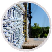 Plaza De Espana Round Beach Towel