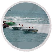 Port Huron Sarnia International Offshore Powerboat Race Round Beach Towel