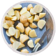 Potatoes Round Beach Towel