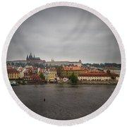 Prague Round Beach Towel