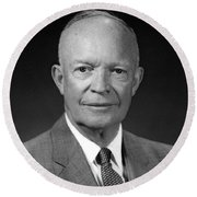 President Dwight Eisenhower - Four Round Beach Towel