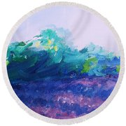 Provence  Lavender Field Round Beach Towel