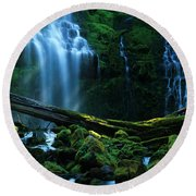Proxy Falls Oregon Round Beach Towel