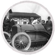 Race Car, 1914 Round Beach Towel