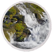 River San Juan  Round Beach Towel