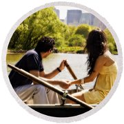 Romance In The Afternoon Round Beach Towel