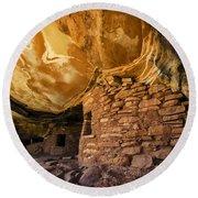 Ancient Spaces Utah Round Beach Towel