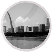 Saint Louis Skyline Round Beach Towel