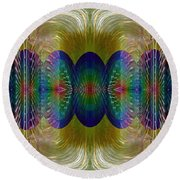 Salsify Abstract Round Beach Towel