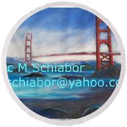 San Francisco Golden Gate Bridge Round Beach Towel