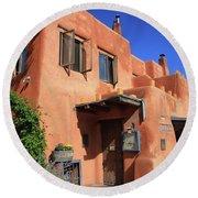 Santa Fe - Adobe Building Round Beach Towel
