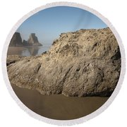 Sea Stacks Round Beach Towel