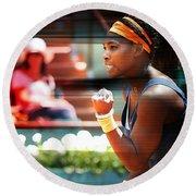 Serena Williams Round Beach Towel