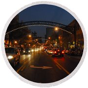 D8l-152 Short North Gallery Hop Photo Round Beach Towel