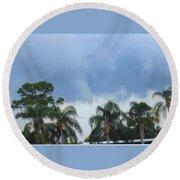 Skyscape Tornado Forming Round Beach Towel