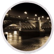 Southwark Bridge London Round Beach Towel