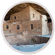 Spruce Tree House Mesa Verde National Park Round Beach Towel