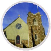 St. Andrews-by-the-sea Round Beach Towel