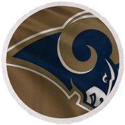 St Louis Rams Uniform Round Beach Towel