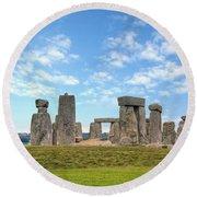 Stonehenge Round Beach Towel