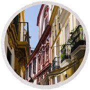 Streets Of Seville - Magic Colours Round Beach Towel
