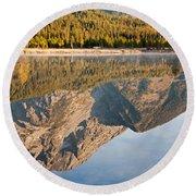 String Lake Grand Teton National Park Round Beach Towel