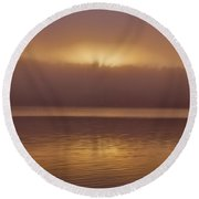 Sunset At Houtskari Round Beach Towel