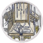 Surgical Instruments Round Beach Towel