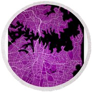 Sydney Street Map - Sydney Australia Road Map Art On Colored Bac Round Beach Towel