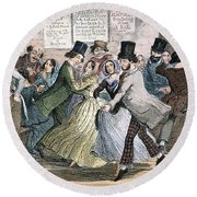Temperance Movement, 1848 Round Beach Towel